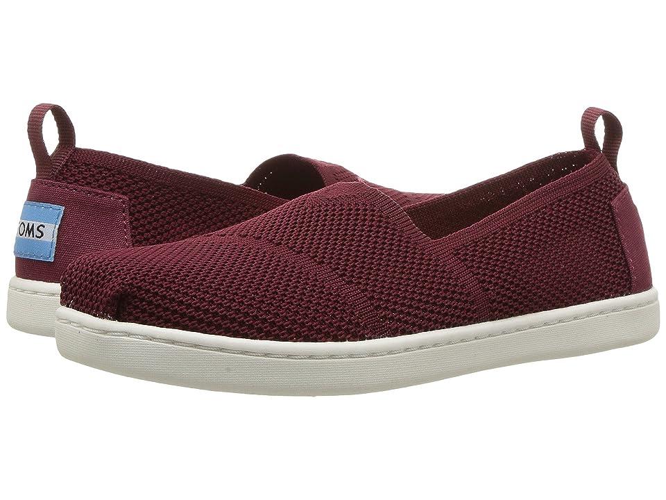 TOMS Kids Knit Alpargata Espadrille (Little Kid/Big Kid) (Burgundy Mesh) Girls Shoes