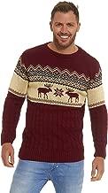 LEKEEZ Men's Novelty Sweaters Christmas Unisex Jumpers Cozy Fairisle