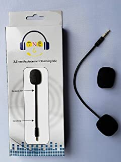 3.5mm Replacement Game Mic TNE Microphone Boom for Turtle Beach Ear Force XO One XO Three XO Four Stealth 400 420x 450 500p 520 Recon 50x 50p 50 60p 150 Camo Xbox One PS4 Mac Computer Gaming Headsets