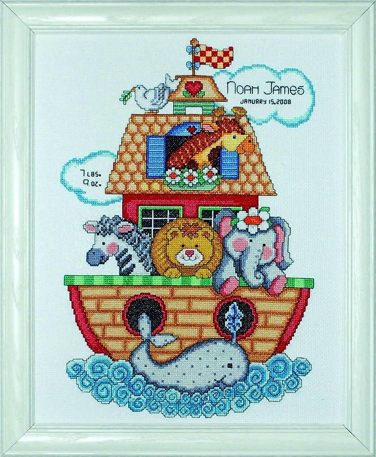 Tobin T21718 Noah's Ark Birth Record Counted Cross Stitch Kit