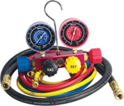 Robinair 42278 Aluminum 4-Way Manifold Gauge Set with Hoses for R-22, R-404a, and R-410a