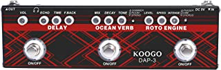 Koogo Multi Effects Pedal Delay Reverb Phaser Tremolo Chorus Effector Pedals for Electric Guitar …