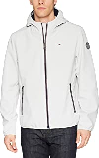 Tommy Hilfiger Men`s Lightweight Water Resistant Breathable Hooded Performance Softshell Jacket