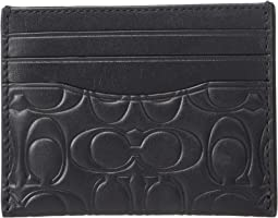 Card Case in Embossed Signature Leather