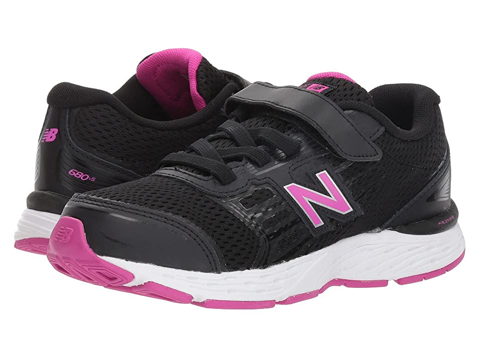 New Balance Kids KA680v5Y (Little Kid/Big Kid) (Black/Azalea) Girls Shoes