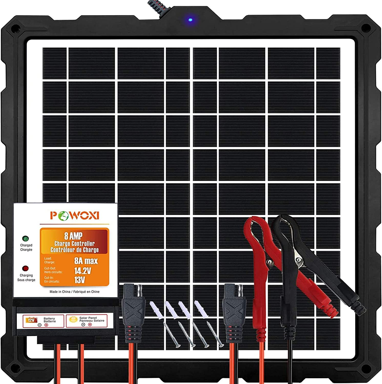 POWOXI-Upgraded-20W-Solar-Battery-Charger-Maintainer Ranking Beauty products integrated 1st place External S