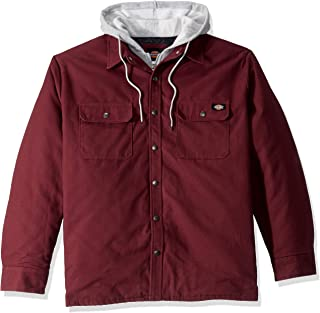 Men's Relaxed Fit Hooded Duck Quilted Shirt Jacket