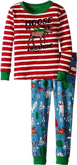 Moose Be Dreaming Pajama Set (Toddler/Little Kids/Big Kids)