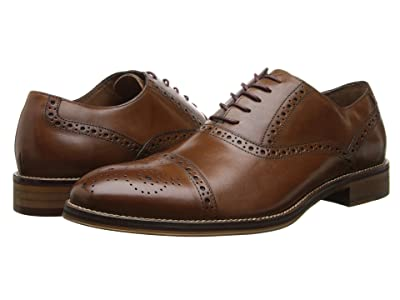 Johnston & Murphy Conard Dress Casual Cap Toe Oxford (Tan Italian Calfskin) Men