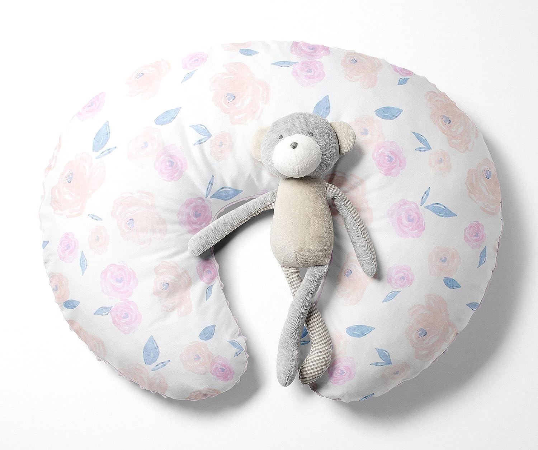 Watercolor Floral Rose Nursing Pillow Cover