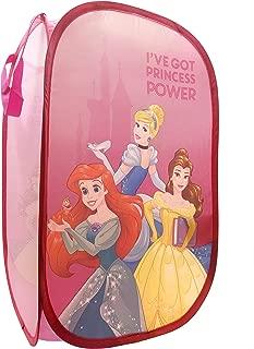 Jay Franco Disney Princess Power Pop Up Hamper - Features Ariel, Belle, Cinderella - Mesh Laundry Basket/Bag with Durable Handles, 22