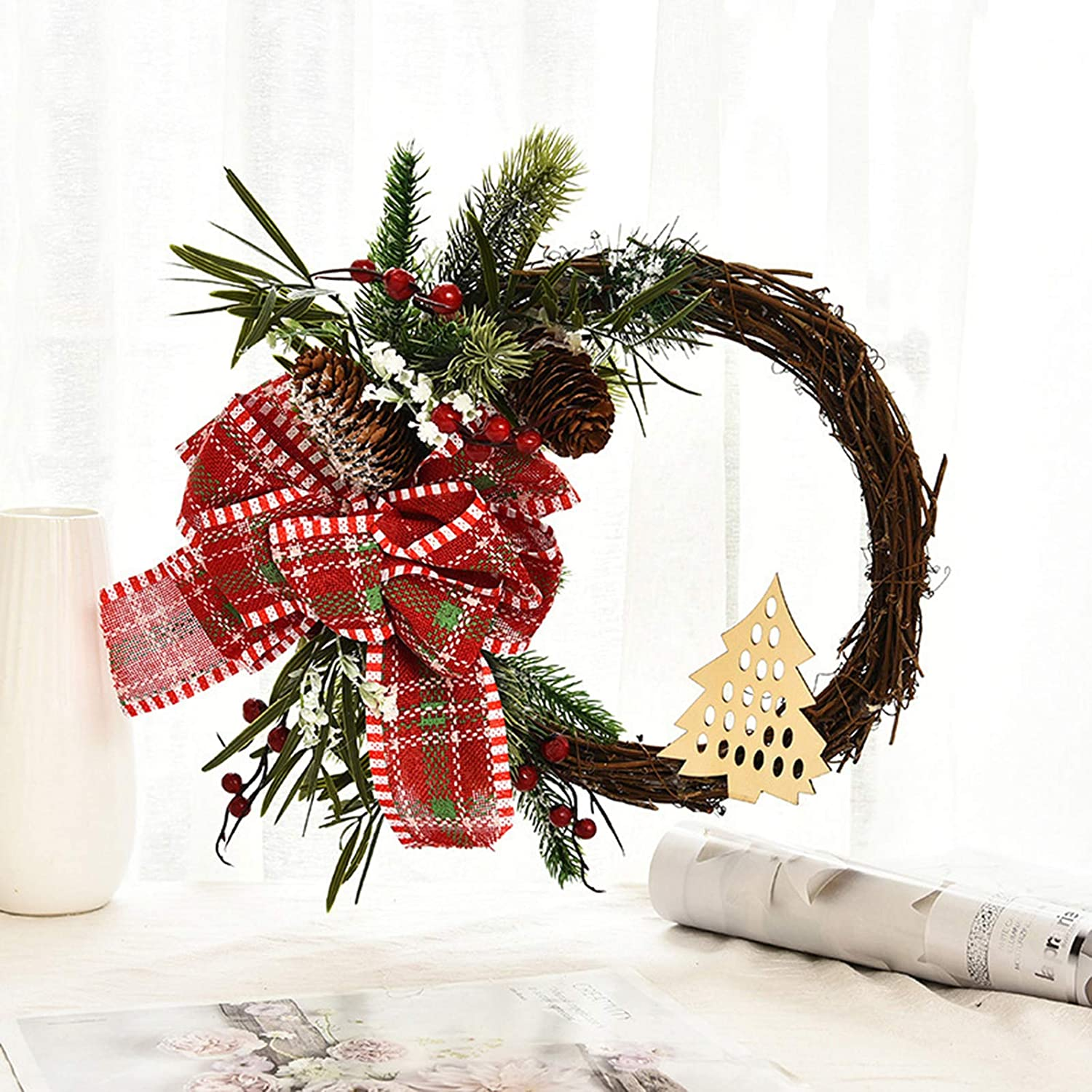 kaiwern Christmas Artificial Max NEW before selling 59% OFF Wreath Decoration Door Front Windo