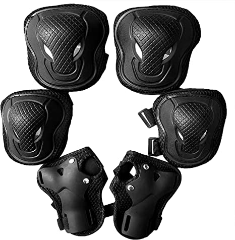 Kids Protective Gear Set Upboxn Knee Pads and Elbow Pads with Wrist Guard Skateboard Accessories for BMX Bike Skateboard Skating Cycling Rollerblading Scooter for Kids 3-8 Years 6Pcs