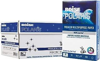 $62 » BOISE POLARIS Premium Multipurpose Paper, 8.5 x 14, 97 Bright White, 20 lb, 10 ream carton (5,000 Sheets)