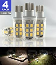 SRRB Direct 2.5W LED Replacement Landscape Pathway Light Bulb 12V AC/DC Wedge Base T5 T10 for Malibu Paradise Moonrays and More (4 Pack, Warm White)