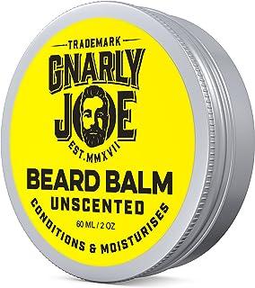 Gnarly Joe - Bálsamo para barba sin perfume, cera para dejar y acondicionador para hombres, crecer el pelo facial y relajar la barba de 60 ml