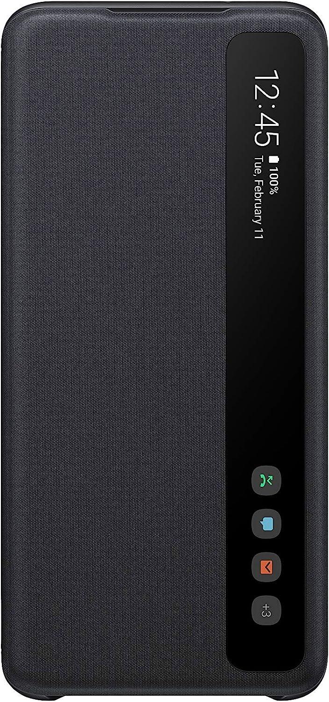 Samsung Galaxy S20 Case, S-View Flip Cover - Black (US Version with Warranty) (EF-ZG980CBEGUS)