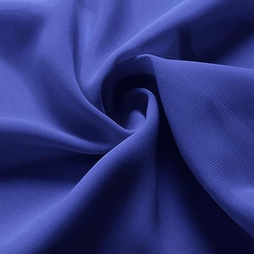 Alicepub Solid Color Sheer Chiffon Fabric by The Yard for Wedding Arch Chiffon Panels, Canopy Draping, Chuppah Drapes,Royal Blue