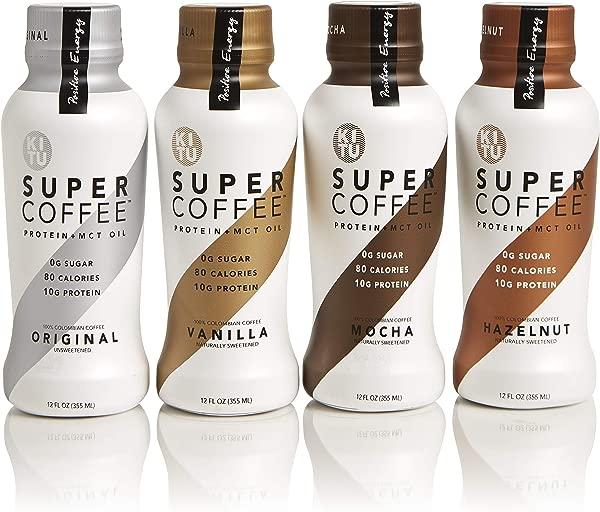 Kitu By Sunniva Super Coffee Sugar Free Formula Variety Pack 10g Protein Keto Approved Lactose Free Soy Free Gluten Free 1 Each Of Vanilla Mocha Hazelnut And Original