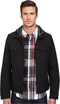 Stand Collar Two-Pocket Hoodie