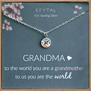 EFYTAL Mothers Day Grandma Gifts, 925 Sterling Silver...