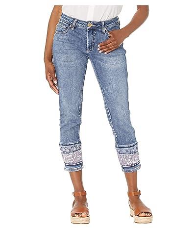 Jag Jeans Petite Petite Carter Girlfriend Jeans w/ Layered Hem (Mid Vintage) Women