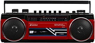 SANSUI Bluetooth搭載ラジカセ【USB/SDカードMP3再生対応】 SCR-B2【RD】