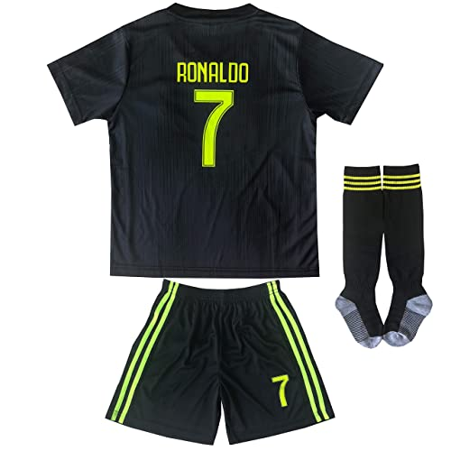 2c0fc888aa2 FCM 2018/2019 New #7 Cristiano Ronaldo Kids Third Soccer Jersey & Shorts  Youth