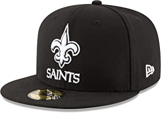 New Era Adult Men NFL Black with White 59FIFTY