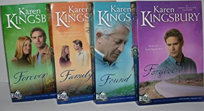 Author Karen Kingsbury Four Book Bundle Baxter Family Drama Firstborn Series 2-5 Includes: Forgiven - Found - Family - & F...