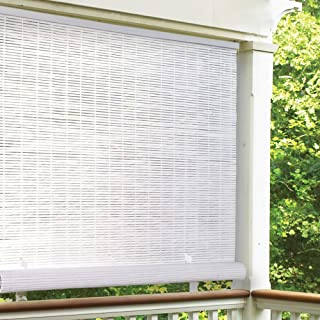Radiance Vinyl Rollup Shade 36 in. W x 72 in. H White Cordless