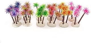 BEGONDIS Set of 12 Aquariums Paradise Palm, Coconut Tree Aquarium Plant Decorations