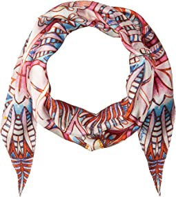 Island Palm Silk Diamond Shape Scarf