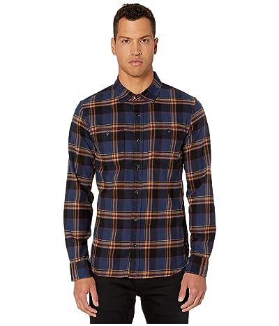 Vans Banfield III Flannel Shirt (Dress Blues/Dirt) Men