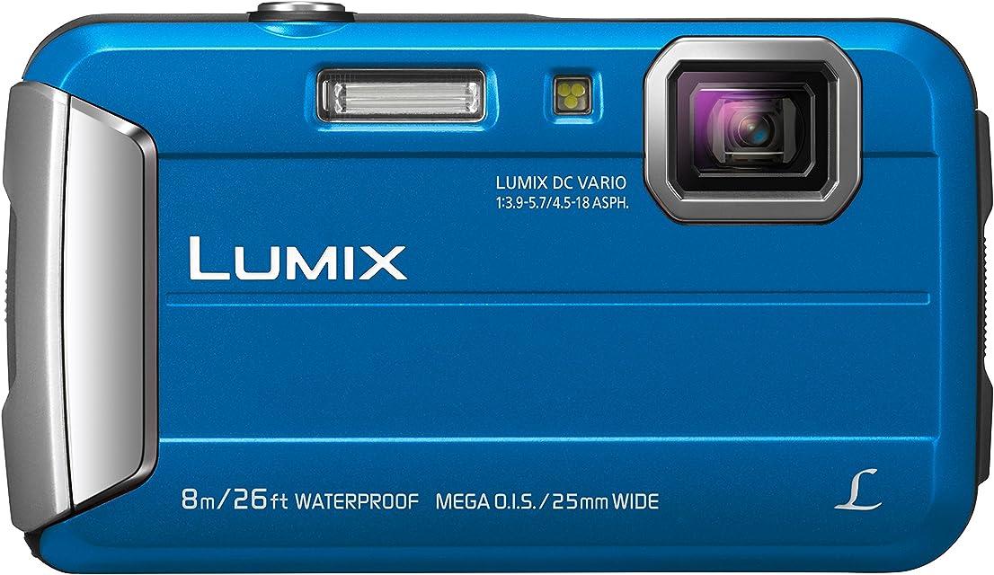 Panasonic Lumix DMC-FT30 - Cámara Acuática Sumergible de 16.1 MP (8 metros F3.9 - 5.7 Zoom de 9x Resistencia a Golpes y Polvo) Color Azul