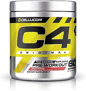 C4 Original Pre Workout Powder Fruit Punch Sugar Free Preworkout Energy Supplement for Men & Women 150mg Caffeine + Beta A...