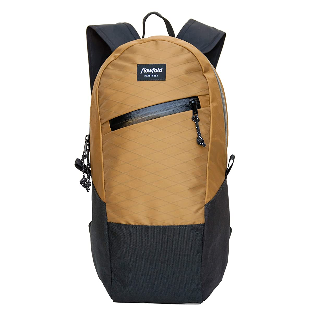 Flowfold Optimist 10L Mini Backpack - Ultra Lightweight Daypack - Made in the USA - Coyote Brown