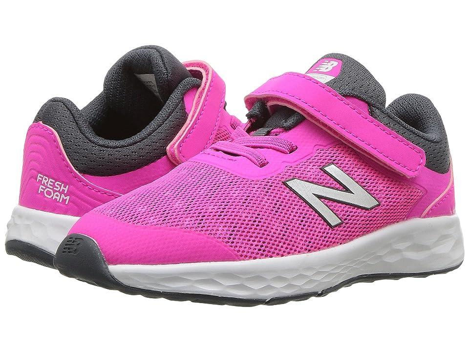 New Balance Kids KVKAYv1I (Infant/Toddler) (Pink Glo/Thunder) Girls Shoes
