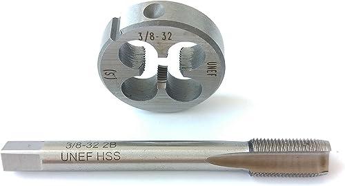 high quality 3/8-32 Tap And Die Set, UNEF Machine Thread Tap And UNEF wholesale Round sale Thread Die Right Hand HSS Taper online