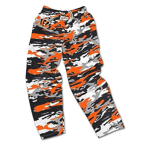cebcef17f Zubaz Men s Officially Licensed NFL Camo Print Team Logo Casual Active Pants