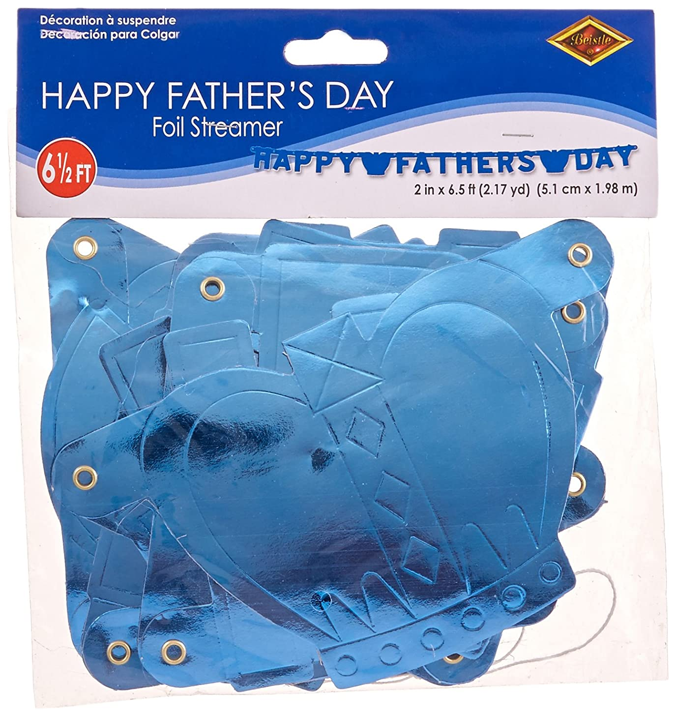 Foil Happy Father's Day Streamer Party Accessory (1 count) (1/Pkg)