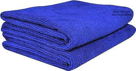 Softspun Microfiber Car Cleaning,Detailing & Polishing Cloth - 40X60 Cms - Blue (2)