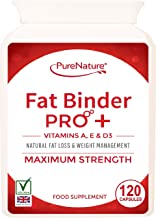 Fat Binder Pro High Strength Vegetarian Diet Slimming Pills Vitamins A D and E a Formula to Help You Lose Weight Faster Than Dieting Alone-Free UK Delivery 120 Estimated Price : £ 15,99