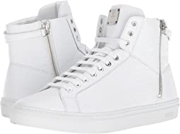 MCM Embossed Logo High Top Turnlock Sneaker