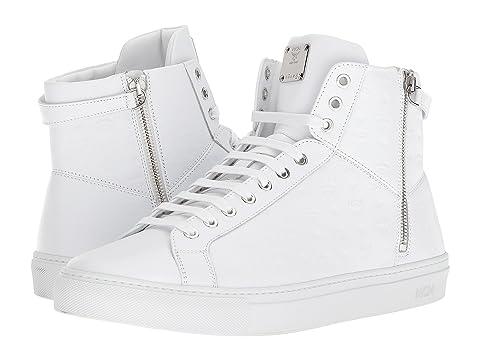 MCM Embossed Logo High Top Turnlock Sneaker