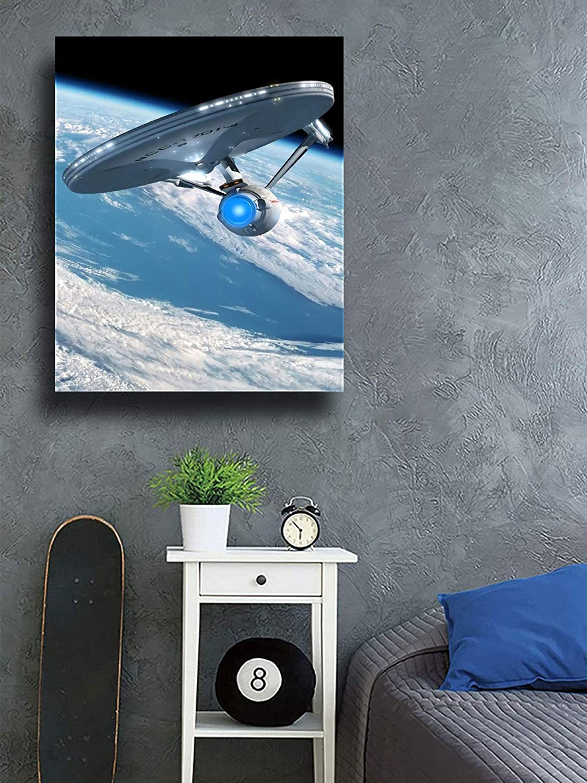 Star Trek Ships Canvas Wall Art Paintings Modern Home Decor Painting 12x18 Oil Paintings Hand Painting Enterprise Star trek Starships