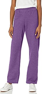 Hanes Women's EcoSmart Sweatpant – Regular and Petite Lengths, Violet Splendor Heather, Large Petite