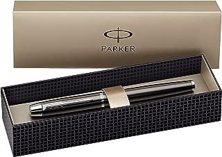 Parker IM Gun Metal CT Fountain-Pen, Chrome Trims, Steel Fine Nib.