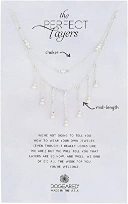 Dogeared - Perfect Layers, Set Of 2 Sparkle w/ Pearls Necklace