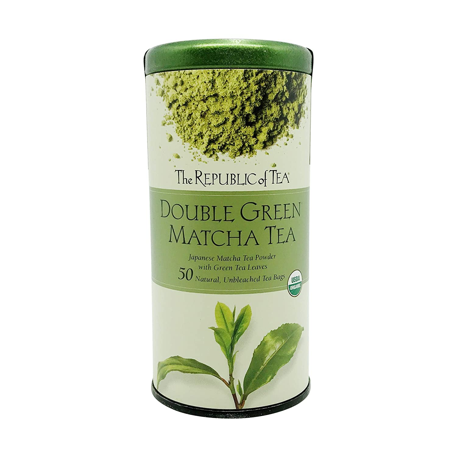 free The Republic of Tea Double Green Organi Gourmet Blend Matcha SEAL limited product